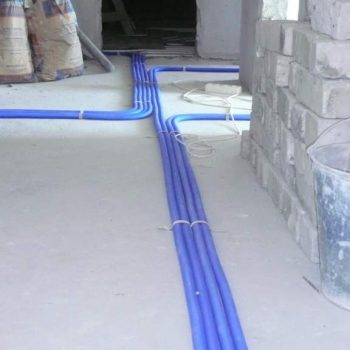 Монтаж трубопроводов в защитном рукаве